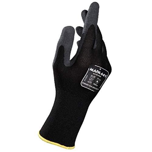 Ultrane 641 Touchscreen-Handschuhe, Logistik, Lager, Mechaniker, Bauarbeiter, Arbeiter, Schwarz, Größe 11 (XXL) (1 Paar) Schutzhandschuhe Arbeitshandschuhe