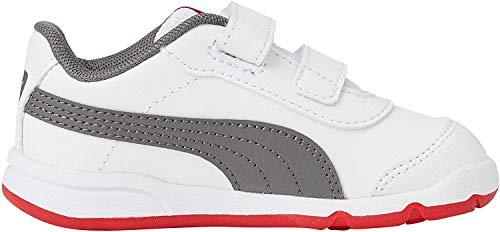 Puma Unisex-Kinder Stepfleex 2 Sl Ve V Inf Sneakers, Weiß White-CASTLEROCK-High Risk Red, 20 EU