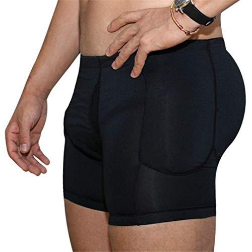 JJZXPJ Hombres Fajas Adelgaza la Talladora del Cuerpo de la Talladora de los Hombres Calzoncillo Retro Hola Wasit Panza de Control for Adelgazar Fajas Pantalones Cortos (Color : Black, Size : M)