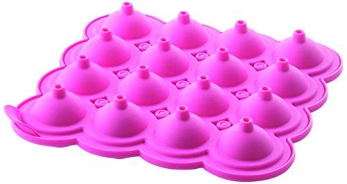 Silikomart 25.321.19.0069 LOL01 Cake Pops Moule pour Sucette Sphérique 16 Cavités Silicone Fuchsia