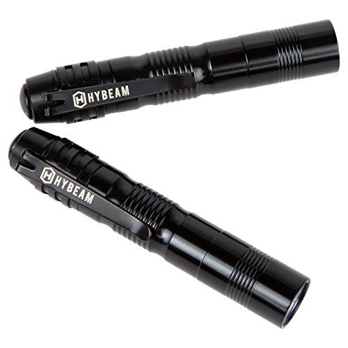 Hybeam MicroLight Pocket-Sized LED Penlight, Pen Light Pack of 2