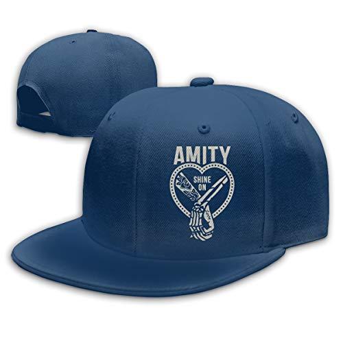 Damen Herren Amity Affliction Shine-On Logo Navy Snapback Baseball Hat Cap Baseballcap Kappe Flatbrim Mütze Für Jungen Mädchen