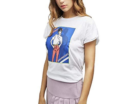 Dolores Promesas PV19 1046BLANCO Camiseta, Blanco (Blanco 00), Small (Tamaño del Fabricante:S) para Mujer