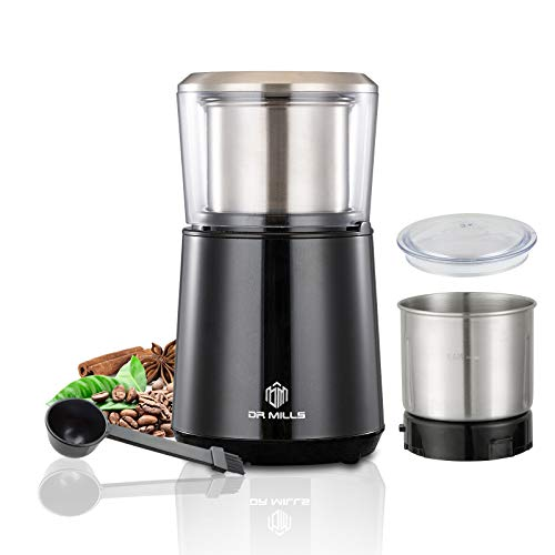 DR MILLS DM-7451 Electric Dried Spice and Coffee Grinder,detachable cup, OK for clean it with water, Blade & cup made with SUS304 stianlees steel