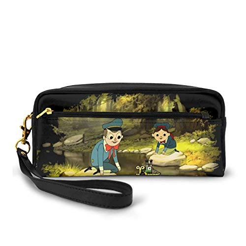 Over The Garden Wall Portable Pencil Case Cute Pu Synthetic Leather Pen Bag Desk Stationery Organizer with Zipper Pen Holder for School