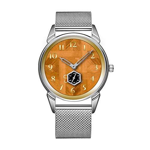 Mode wasserdicht Uhr minimalistischen Persönlichkeit Muster Uhr -632. Parkett personalisierte Damen Wickel-Golduhr