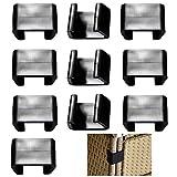 N/S 10 Piezas Clips para Muebles Jardín de Exterior Clips para Muebles de...