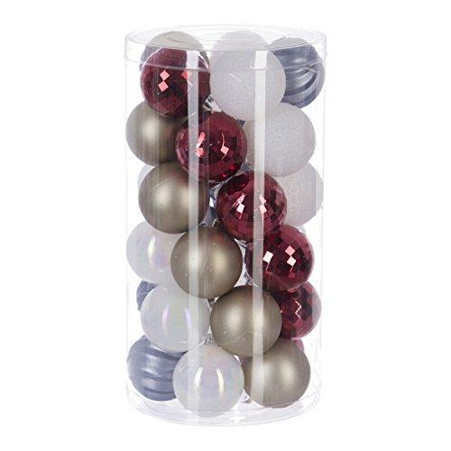 Féérie Lights & Christmas Kit déco pour Sapin de Noël - 30 Pièces - Or, Rouge et Blanc