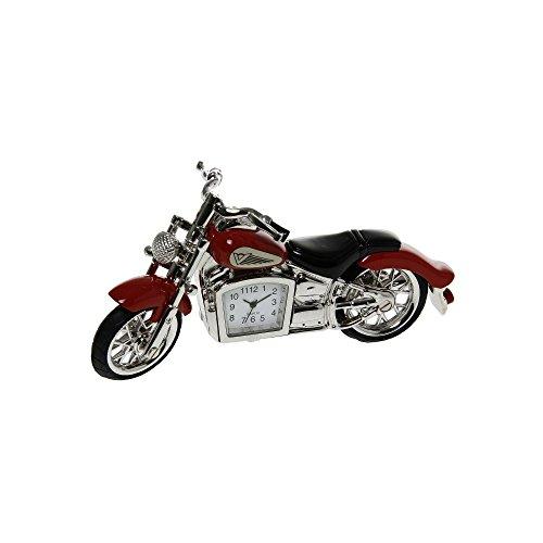 NEUE ROTE MOTORRAD-MINI-NEUHEITS-DESKTOP-UHR (MÄNNER-GESCHENK) HARLEY-ART-FAHRRAD