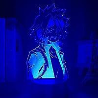 GMYXSW 3D夜ライトアニメLEDランプ寝室の装飾誕生日プレゼントマンガガジェットマイヒーローアカデミア3Dライト-接する