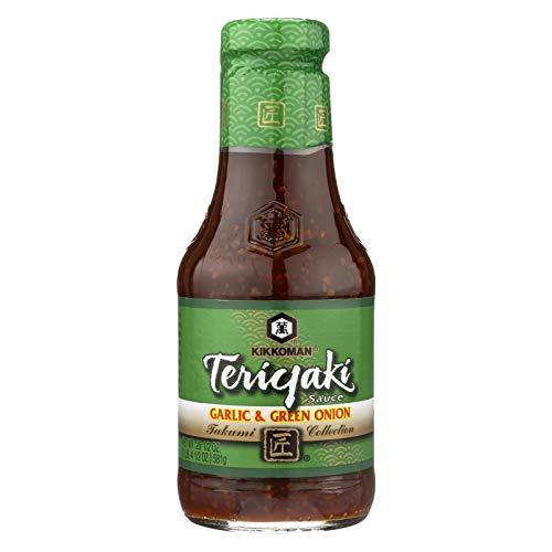 Kikkoman Teriyaki Sauce - Garlic and Green Onion - Case of 6 - 20.5 oz.