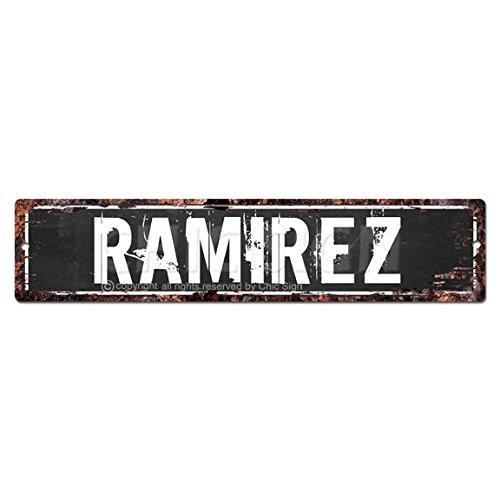 Ramirez Man Cave Letrero, Chic rústico calle Placa Cartel Bar Cafe restaurante shop Home–Placa decorativa de Man Cave