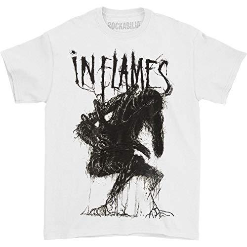 In Flames Men's Creature T-Shirt Medium White