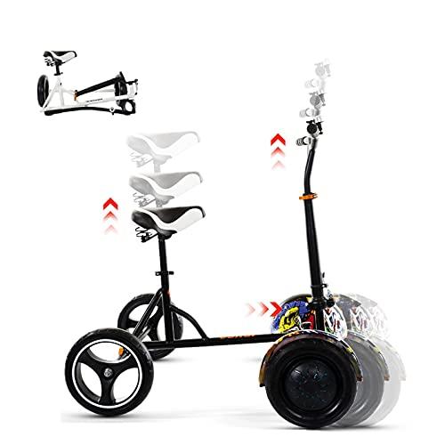 CCCYT Asiento Hoverboard, Kart para Patinete,Silla de Scooter Self Balance, Adecuado para Eje Redondo, Plegable,Carga máxima 80 kg,Regalo para niños