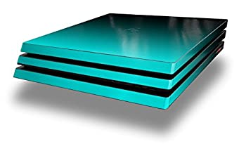 WraptorSkinz PS4 Pro Skin Wrap Smooth Fades Neon Teal Black - Decal Style Skin fits Sony PlayStation 4 Pro Console