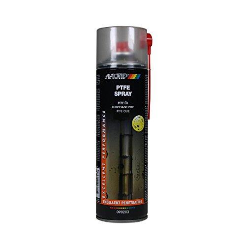 MOTIP Universal-Schmiermittel PTFE-Spray, universelles, synthetisches Schmiermittel, wasserabweisende Eigenschaften, beständig gegen Säuren, Salzen und Laugen. Temperaturbeständig von -50° C bis zu +250° C, geeignet als Universal-Schmi