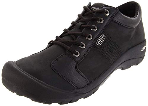 KEEN Men's Austin Shoe,Black,10.5 M US