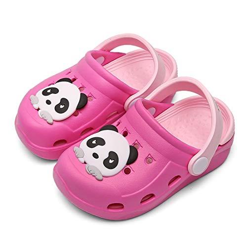 Mules Fille Sabots Garçon Sandales de Plage Enfants bébé Pantoufles Légère Chaussures pour Piscine de Jardin Été rose rouge 26.5-27EU=Fabricant :27