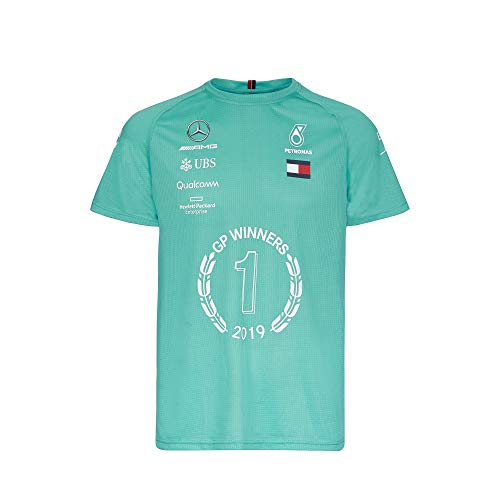 Mercedes-AMG Petronas Motorsport - Formel 1 - Team Race Winner T-Shirt 2019 Herren - Grün (XL)