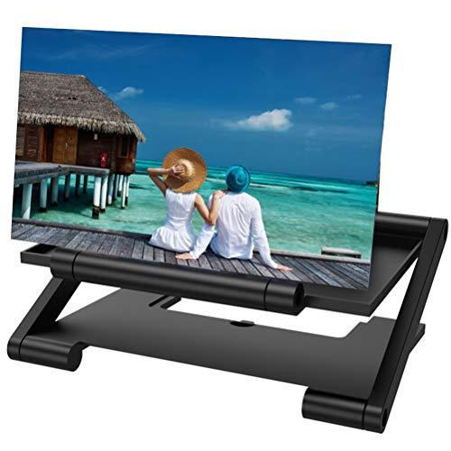 Stecto 12 Zoll Handy Lupe, 3D Bildschirmlupe für Telefone, HD Bildschirme Vergrößerungslens gegen Blaulicht Faltbare Phone Bildschirmlupe Verfügbar auf Alle Smartphones Für Filmvideos