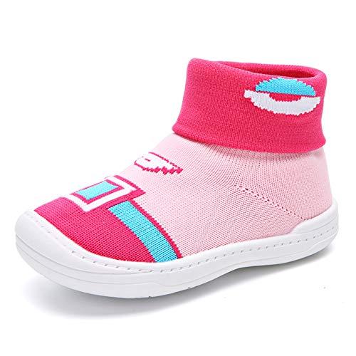 Niño Bebé Niño Zapatos de Primer Caminante Niño/niña Calcetines de Malla Suave Suela de Goma 1-5 años