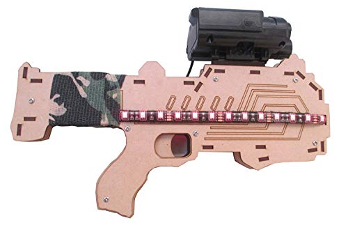 Antong Etiqueta láser de 600 pies, Pistola de Juguete para Exteriores/Interiores, Pistola de Batalla Profesional, Arma CS de Material de Madera, etiquetador editable y configuraciones de Juego