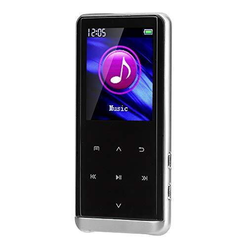 Dpofirs Mini Reproductor de Música MP4 con Pantalla de Visulización, Reproductor de Música Recargable Multifuncional de Sonido Estéreo HiFi, Admite Conexión WiFi, Soporte Texto Video y Audio(8g)