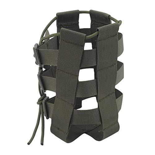 unknow Rizihao - Bolsa para botellas de agua al aire libre, bolsillo ajustable, kit de supervivencia para camping, senderismo, viajes, color verde
