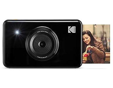 Kodak Mini Shot - Impresiones Inalámbricas de 5 X 7.6 cm con 4 Pass, Tecnología de Impresión Patentada, Cámara Digital de Impresión Instantánea 2 en 1, Negro, Basic