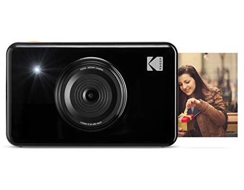 Kodak Mini Shot Instant Print Digital Camera LCD Display, Premium Quality Full Color Prints (Black) None Bluetooth