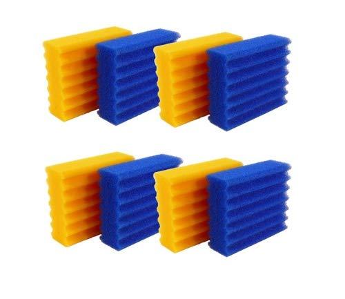 Pondlife Ersatzteil für CBF-Teichfilter - CBF-350B Ersatz-Filterschwämme 4X blau, 4X gelb