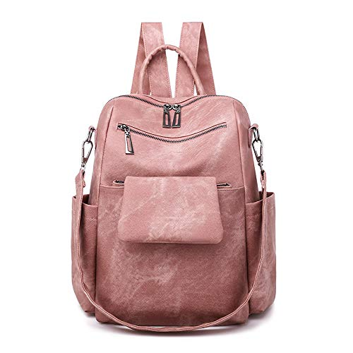 CMZ Women's Backpack Fashion Solid Color Ladies College Style Backpack Women's Trend Simple Large Capacity pu Leather Handbag
