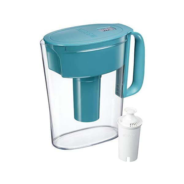 Brita Standard Metro Water Filter Pitcher, Turquoise, Small 5 Cup, 1 Count
