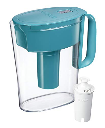 Brita Metro Pitcher with 1 Filter, 5 Cup, Turquise