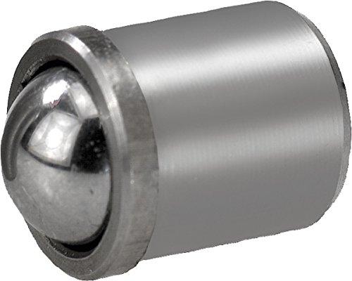 KIPP Federndes Druckstück glatte Ausführung (25 Stück pro Verpackungseinheit) D=10mm, L=13,5mm, Edelstahl, Kugel aus Edelstahl