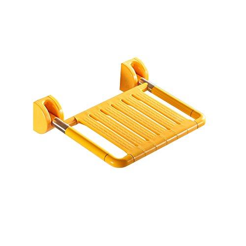 LSLS Taburete Ducha LLS Taburete de Seguridad de baño de Pared, Silla de Ducha Plegable, Taburete de Ducha, Zapatos Cambiando Taburete Taburete para Ducha (Color : Yellow)