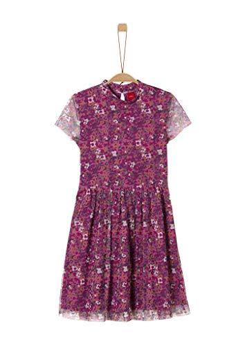 s.Oliver Junior Mädchen 401.10.008.20.200.2041115 Kinderkleid, Pink AOP, 164 /REG