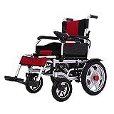 Silla de ruedas eléctrica plegable motorizado sillas de ruedas eléctricas, alimentación compacto Movilidad para sillas de ruedas Ayuda para el obeso ancianos y discapacitados, Potente motor dual