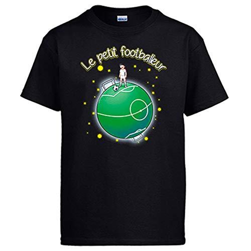 Diver Bebé Camiseta Le Petit Footballeur Tributo fútbol El Principito - Negro, 5-6 años