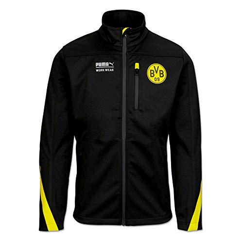 PUMA WORK WEAR Premium BVB Edition - Chaqueta de trabajo (tejido softshell) negro/amarillo L