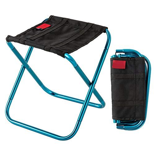 JONJUMP Taburete de camping portátil al aire libre plegable silla de pesca silla de aleación de aluminio ultraligera plegable silla de picnic pesca familia