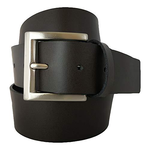 almela - Cinturón Hombre y Mujer - Piel legitima - 4 cm ancho - Vaqueros, Vestir, Sport, Jeans, Casual, Shorts - 40 mm