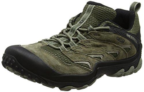 Merrell Cham 7 Limit Waterproof, Zapatillas de Senderismo para Hombre, Verde...