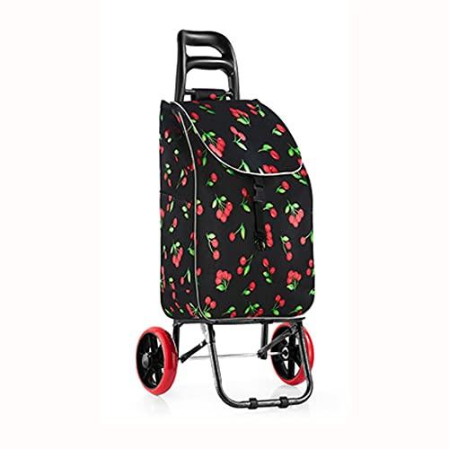 BRFDC Einkaufswagen Leichter Shoppingwagen EIN Einkaufsabteil mit großem Kapazitätsfächer, der kaum trägt zum einfachen Speicher