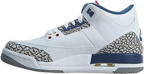 Nike Nike Jungen 854261-106 Fitnessschuhe, Weiß/Rot/Blau/Grau (White Fire Red True Blue Cement Grey), 38.5 EU