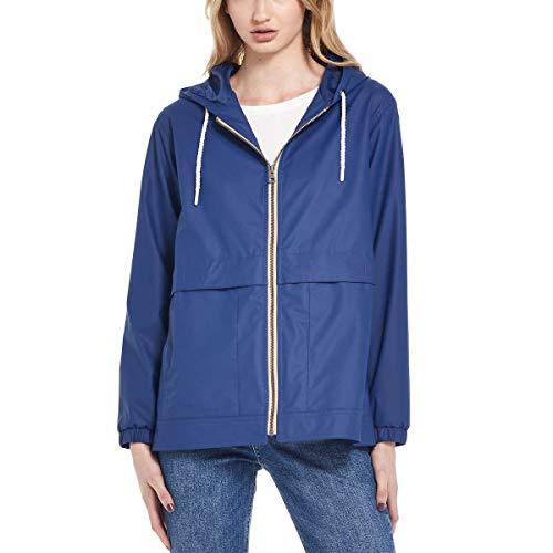 Weatherproof Vintage Womens Rain Slicker Jacket (Twilight Blue, Medium)