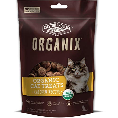 Castor & Pollux Organix Organic Chicken Flavor Cat Treats, (12) 2oz bag