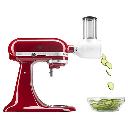 KitchenAid KSMVSA Fresh Prep Slicer, Shredder Attachment, color Negro/Metálico/Blanco, Única