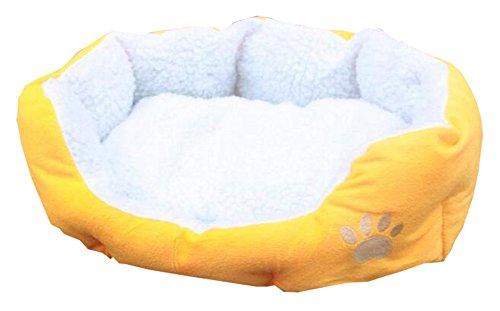 Lumanuby 1 Stück Hundebett Tuch Material Hundesofa Ovale Form Hoher Rand mit Tiefem Einstieg Tierbett Größe: ca.46 * 42cm Nettes Haustier-Zusätze für Haustier Liebhaber Gelb Farbe