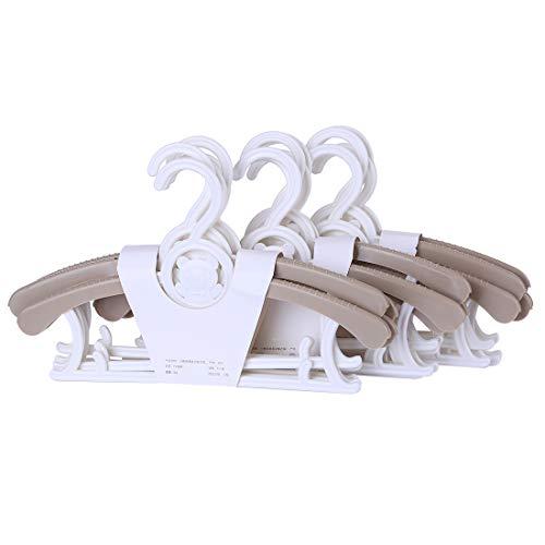 MAJOZ - 15 Perchas para niños, Perchas de plástico Antideslizantes para Armario, Longitud Ajustable de 28 a 37 cm